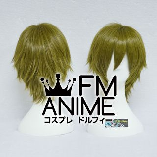 Short Spike Style Greenish Brown Cosplay Wig #L1213