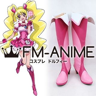 Fresh Pretty Cure! Momozono Love Cure Peach Cosplay Shoes Boots