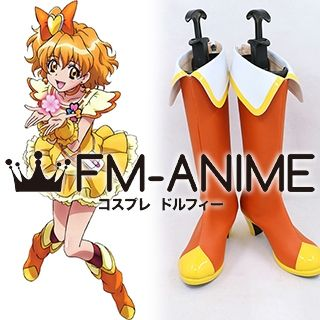 Fresh Pretty Cure! Yamabuki Inori Cure Pine Cosplay Shoes Boots