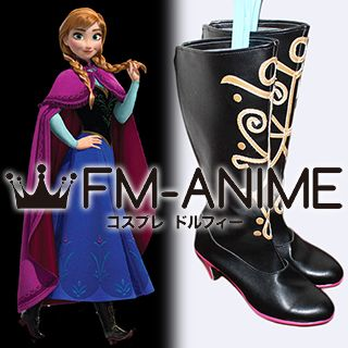 Frozen (Disney 2013 film) Anna Cosplay Shoes Boots
