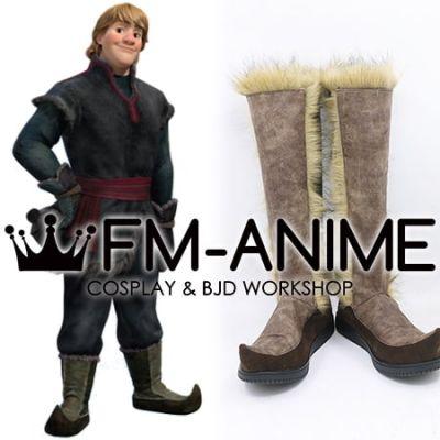 Frozen Disney 2013 film Kristoff Bjorgman Cosplay Shoes Boots