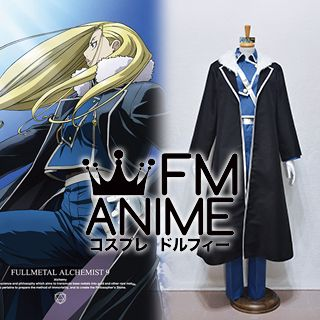 Fullmetal Alchemist Olivier Mira Armstrong Military Uniform Cosplay Costume