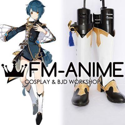 Genshin Impact Xingqiu Cosplay Shoes Boots