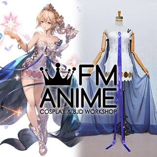 Granblue Fantasy Europa Dress Cosplay Costume Crown
