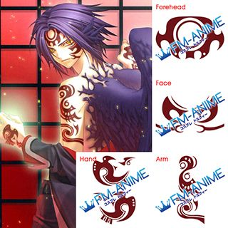 Hiiro no Kakera Atori Mahiro Cosplay Tattoo Stickers