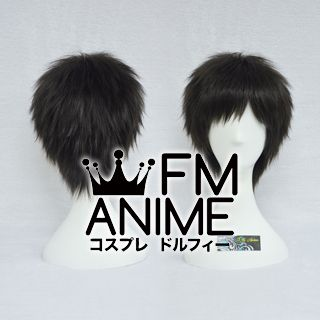 Short Spike Style Black Cosplay Wig #G0902