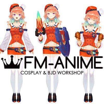 Hololive Takanashi Kiara Virtual YouTuber Vtuber Cosplay Costume