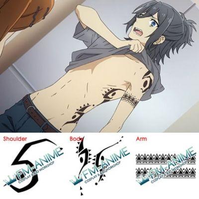 Horimiya Hori-san to Miyamura-kun Izumi Miyamura Cosplay Temporary Tattoo Stickers