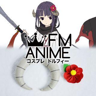[Display] Inu x Boku SS Ririchiyo Shirakiin Kimono Headdress Plush Doll Cosplay Accessories Props