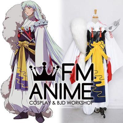 Inuyasha Sesshomaru Kimono Cosplay Costume Fluffy Tail Armour Porps