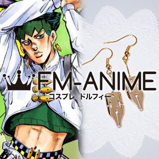 JoJo's Bizarre Adventure Rohan Kishibe Earrings Metal Cosplay Accessories