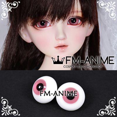 16mm Pale Red Violet & Black Pupil BJD Dolls Glass Eyes Eyeballs Accessories