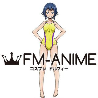 Keijo!!!!!!!! Rin Rokudo Yellow Swimsuit Cosplay Costume
