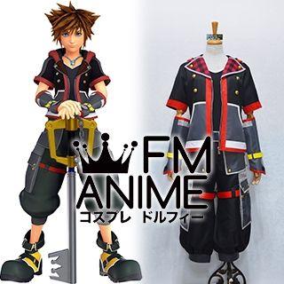 Kingdom Hearts III 3 Sora Black Red Cosplay Costume
