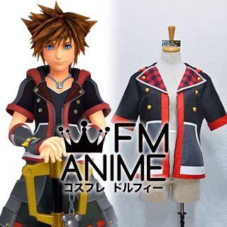 Kingdom Hearts III 3 Sora Black Red Jacket Cosplay Costume