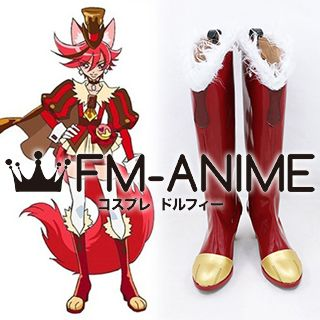 KiraKira☆Pretty Cure A La Mode Kenjou Akira Cosplay Shoes Boots