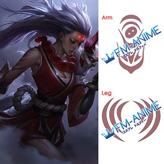 League of Legends Blood Moon Diana Cosplay Tattoo Stickers