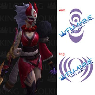 League of Legends Blood Moon Diana 3D Model Cosplay Tattoo Stickers