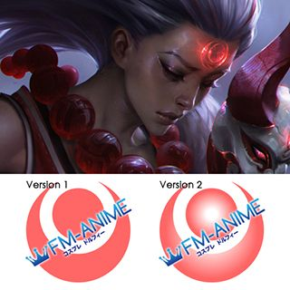 League of Legends Blood Moon Diana Forehead Cosplay Tattoo Stickers