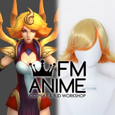 League of Legends Elementalist Lux Fire Version Cosplay Wig