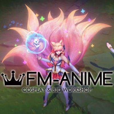 League of Legends Star Guardian Ahri Skin Tail Fluffy Tail Cosplay Accessory Prop