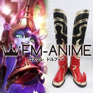 League of Legends The Fae Sorceress Lulu Skin Cosplay Shoes Boots