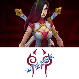 League of Legends Warring Kingdoms Katarina Skin Cosplay Tattoo Stickers