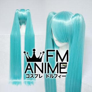 Long Length Clips on Straight Mixed Blue Cosplay Wig