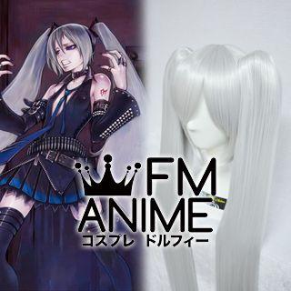 Vocaloid Hagane Miku TypeH Cosplay Wig (Silver White)