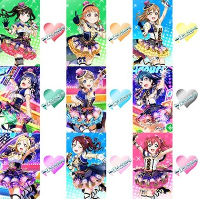 Love Live! Sunshine!! New Year's Eve Heart Cosplay Tattoo Stickers