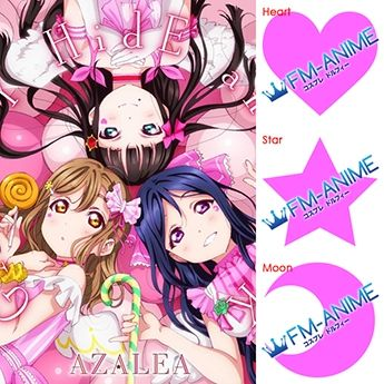 Love Live! Sunshine!! GALAXY HidE and SeeK Cosplay Tattoo Stickers
