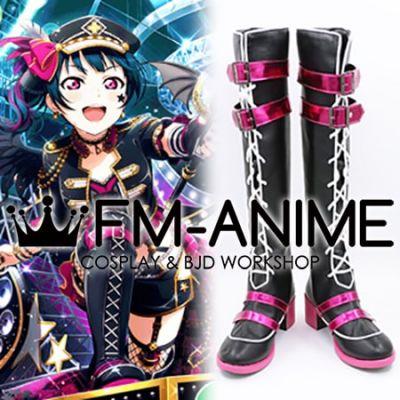 Love Live! Sunshine!! Tsushima Yoshiko Punk Rock Cosplay Shoes Boots