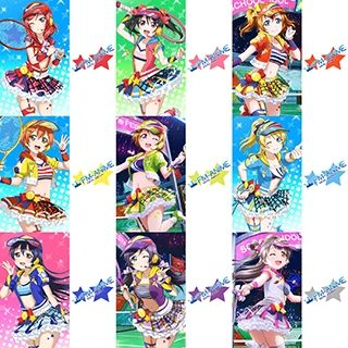 Love Live! Tennis Ver. Cosplay Tattoo Stickers