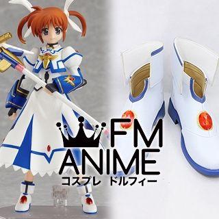 Magical Girl Lyrical Nanoha Nanoha Takamachi Sacred Mode Cosplay Shoes Boots