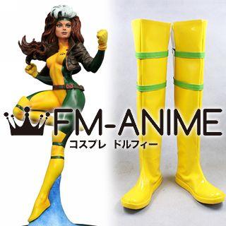 Marvel Comics X-Men Rogue Cosplay Shoes Boots