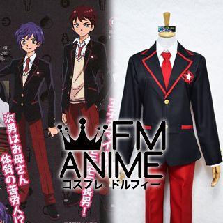 Mawaru Penguindrum Kanba Takakura & Shoma Takakura Male Uniform Cosplay Costume