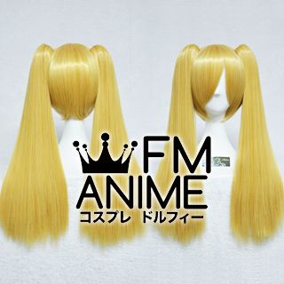 Medium Length Clips on Straight Mixed Gold Cosplay Wig