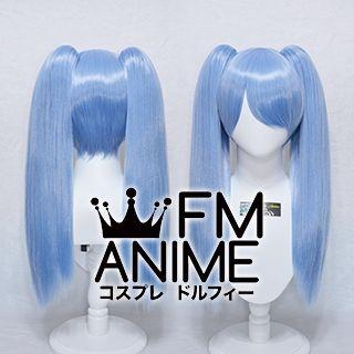 Medium Length Clips on Straight Sky Blue Cosplay Wig