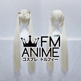 Medium Length Twintails Style Mixed Light Gold Cosplay Wig