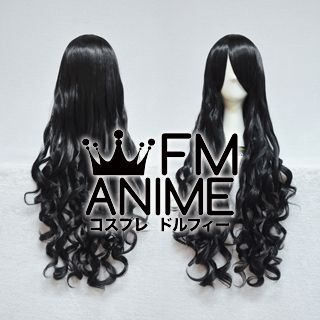 Medium Length Wavy Black Cosplay Wig