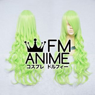 Medium Length Wavy Hami Melon Green Cosplay Wig