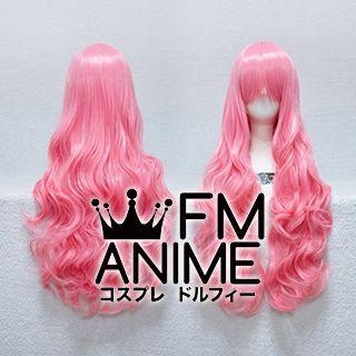 Medium Length Wavy Mixed Pink Cosplay Wig