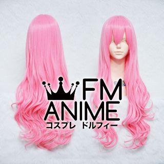 Medium Length Wavy Pink Cosplay Wig