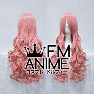 Medium Length Wavy Smoky Pink Cosplay Wig