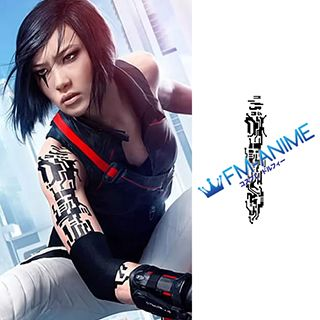 Mirror's Edge Faith Connors Cosplay Tattoo Stickers