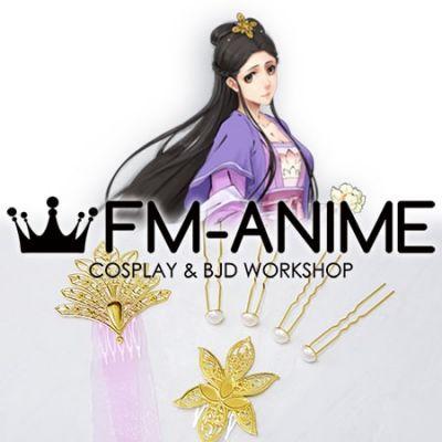Mo Dao Zu Shi The Untamed Anime Jiang Yanli Headdress Cosplay Accessories
