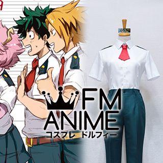 My Hero Academia Izuku Midoriya U.A. High Male Summer Uniform Cosplay Costume