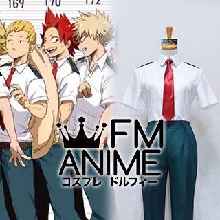 My Hero Academia Bakugou Iida Kaminari Todoroki Kirishima Male Summer Uniform Cosplay Costume