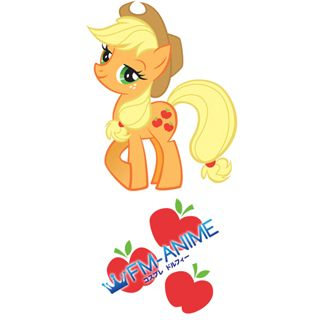 My Little Pony Applejack Cutie Mark Cosplay Tattoo Stickers