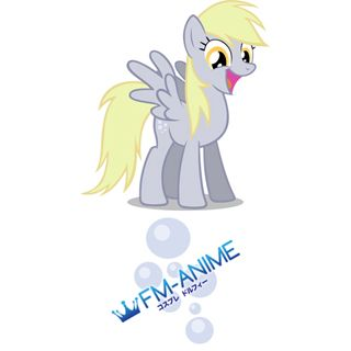 My Little Pony Derpy Muffin Cutie Mark Cosplay Tattoo Stickers